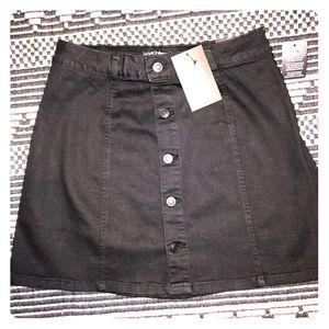 FashionNova Easy A-Line Black mini Skirt